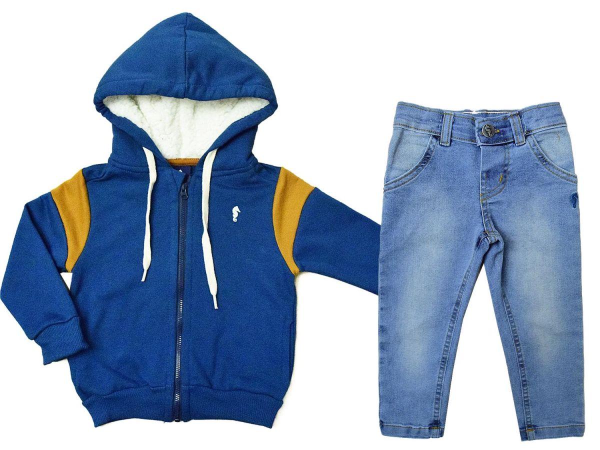 Conjunto Jaqueta e Calça Jeans Onda Marinha A2103