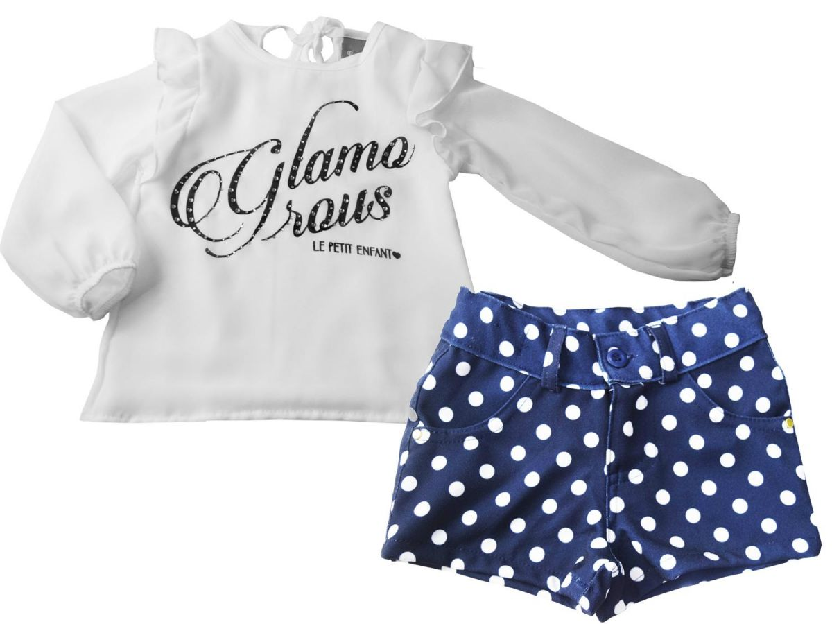 Conjunto Le Petit Bata Glamorous e Shorts