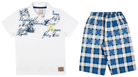 Conjunto Masculino Camisa Polo e Bermuda Xadrez Boca Grande