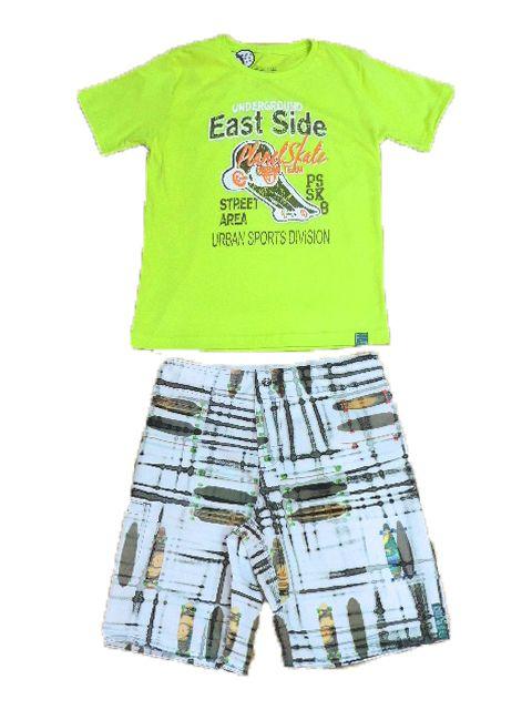 Conjunto Masculino Camiseta e Bermuda Tactel Passagem Secreta