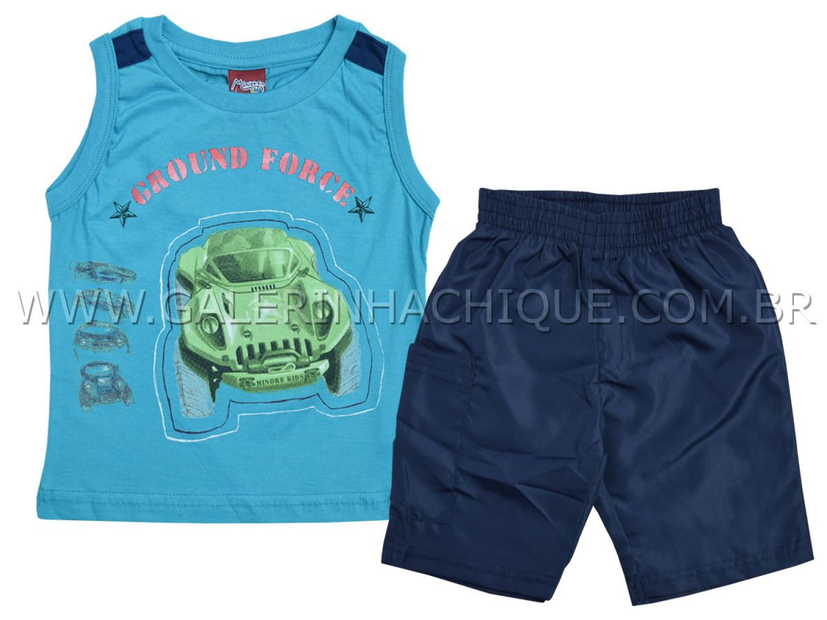 Conjunto Minore Kids Regata Ground e Bermuda