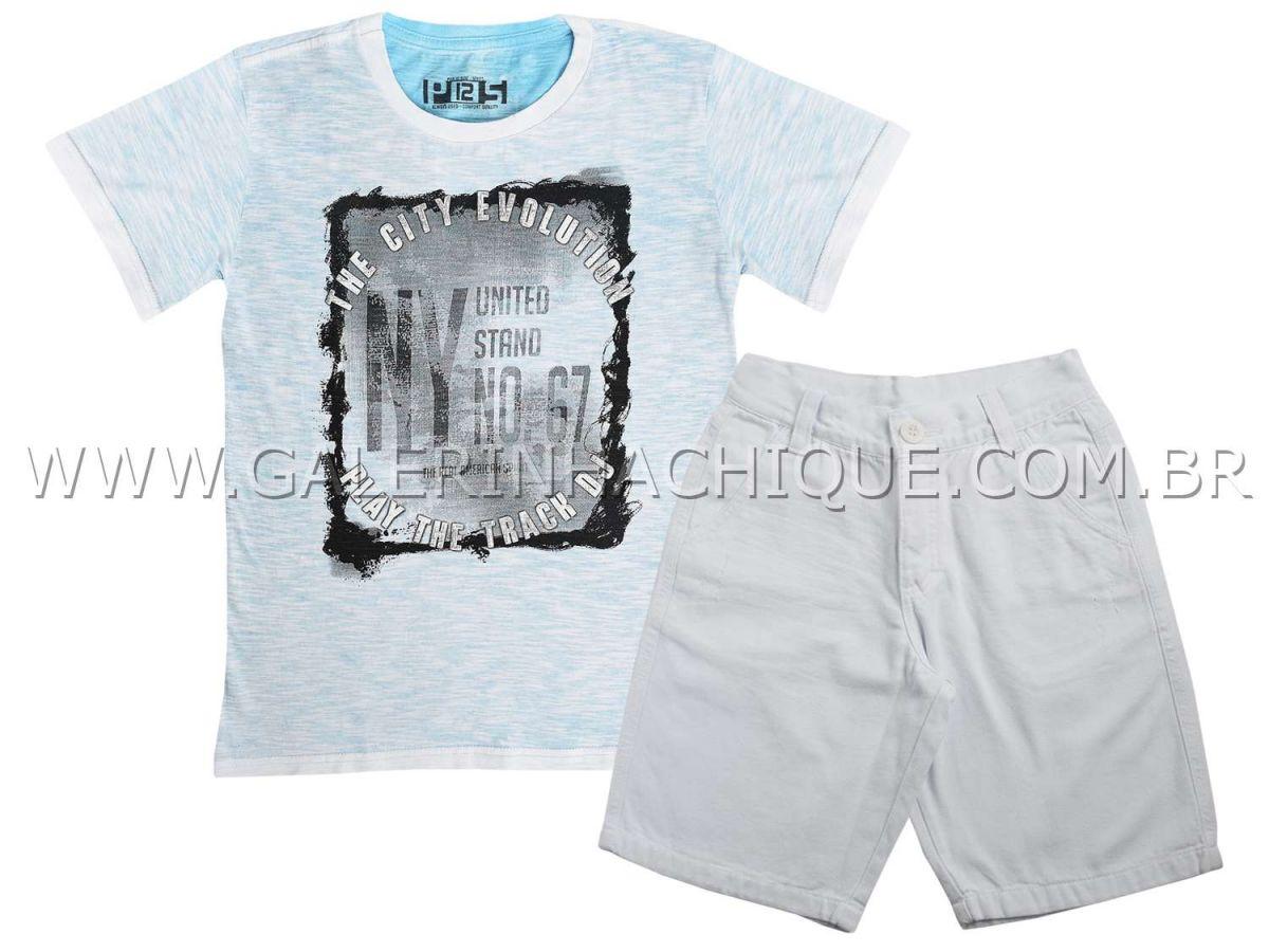 Conjunto Passagem Secreta Camiseta City Evolution e Bermuda