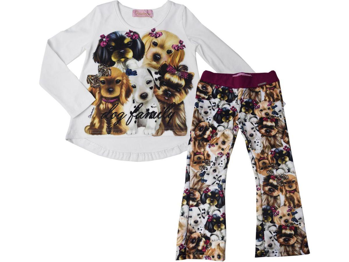 Conjunto Pituchinhus Bata e Calça Flare Dog Family - C1787917851