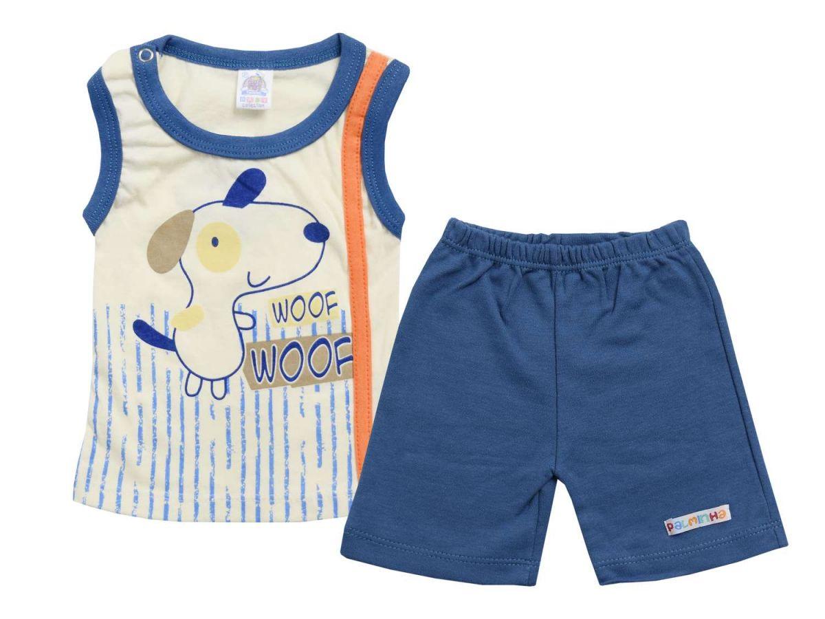 Conjunto Regata e Shorts Azul Palminha