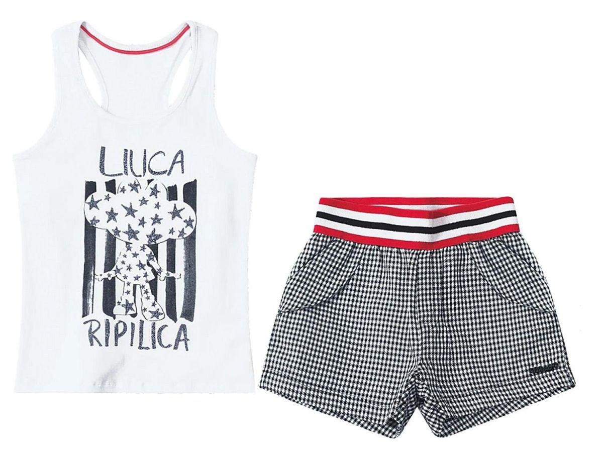 Conjunto Regata e Shorts Lilica Ripilica 101098597433
