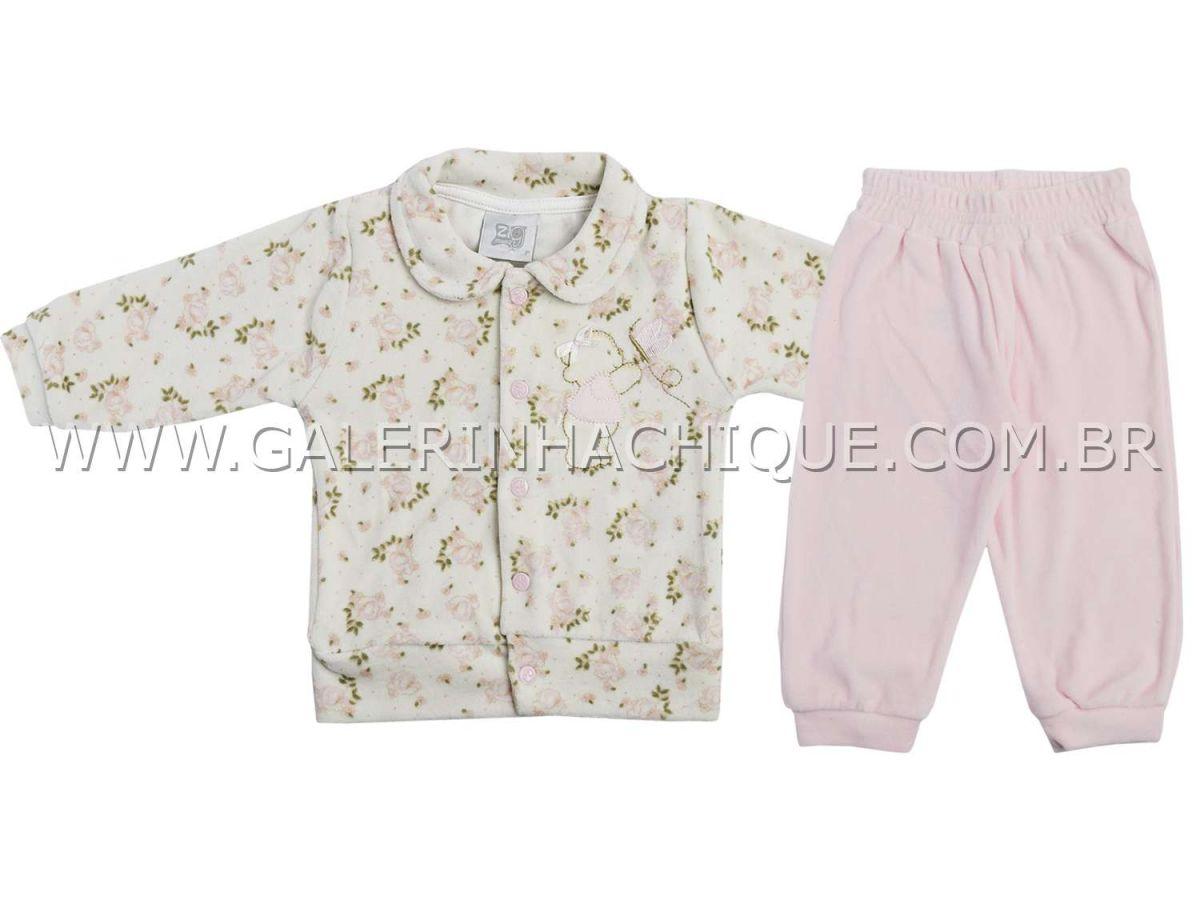 Conjunto Zig Mundi Blusa Plush Floral e Calça