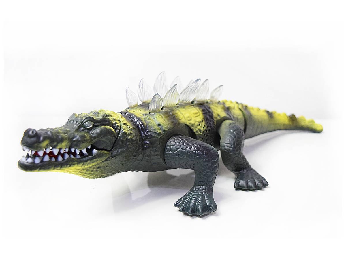 Crocodilo Pré-histórico com Sons e Luzes 42cm Zoop Toys