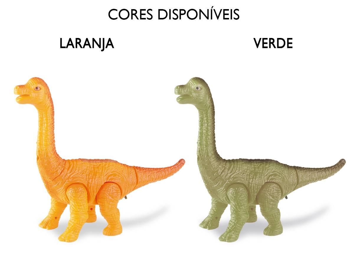 Dinossauro Braquiossauro Com Som e Luz 24cm Zoop Toys