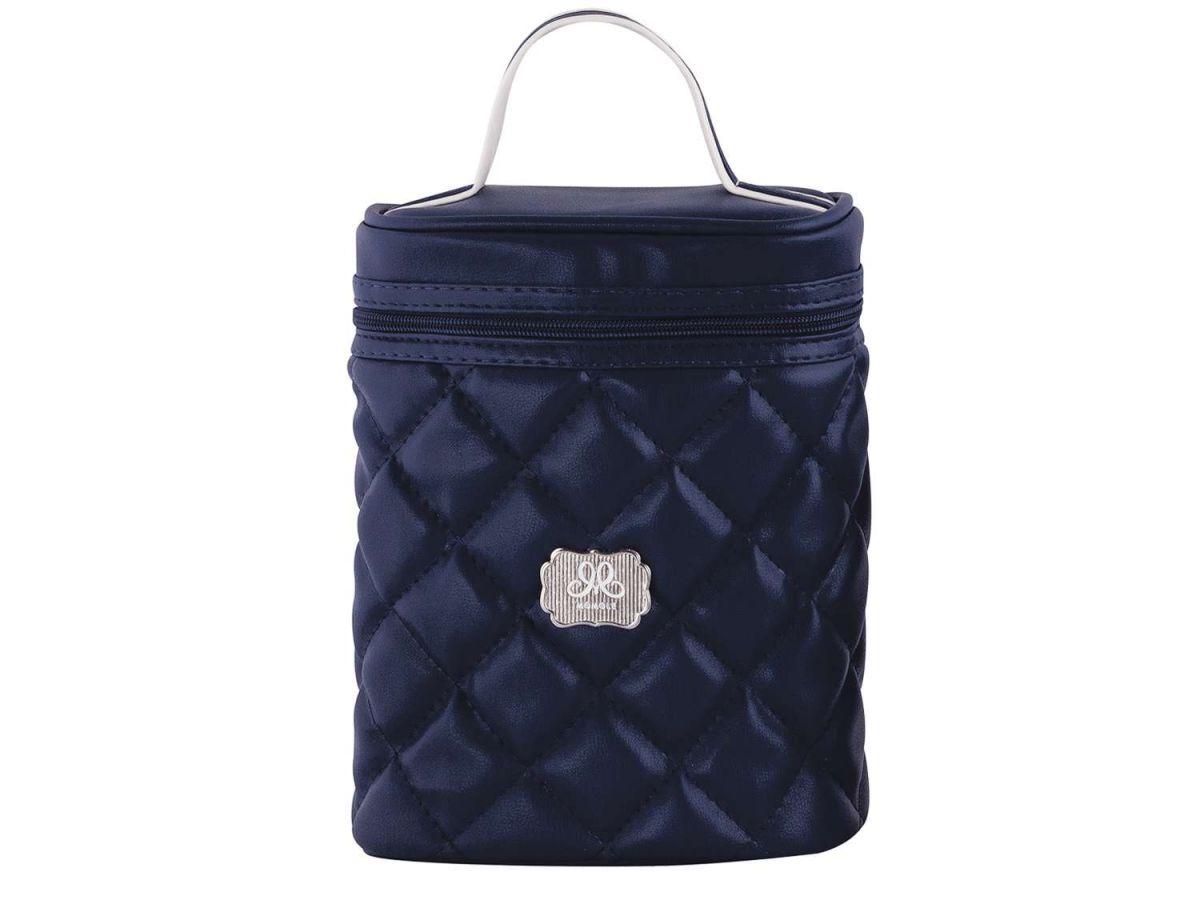 Frasqueira Luxo Matelassê Azul Momole
