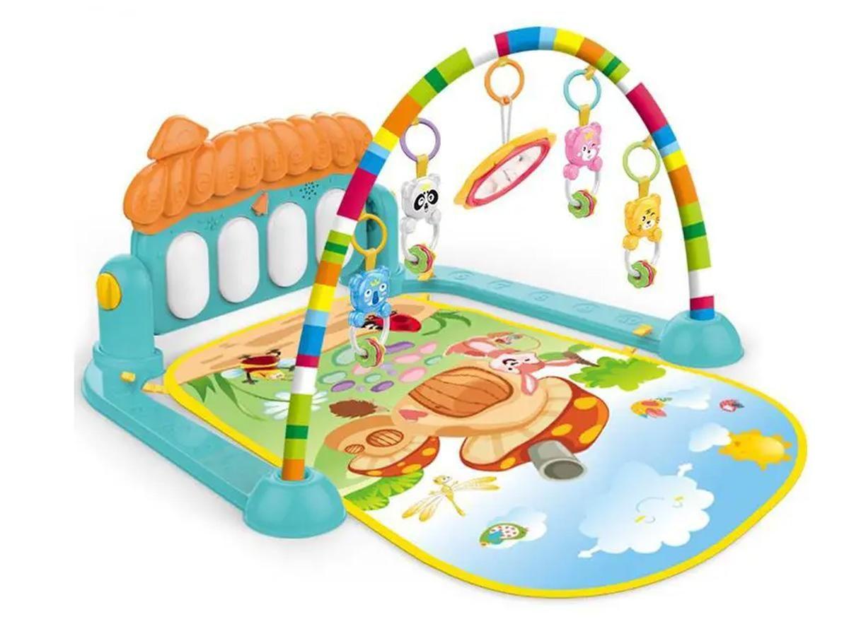 Ginásio Divertido do Bebê - Tapete Atividades Piano Azul 6100