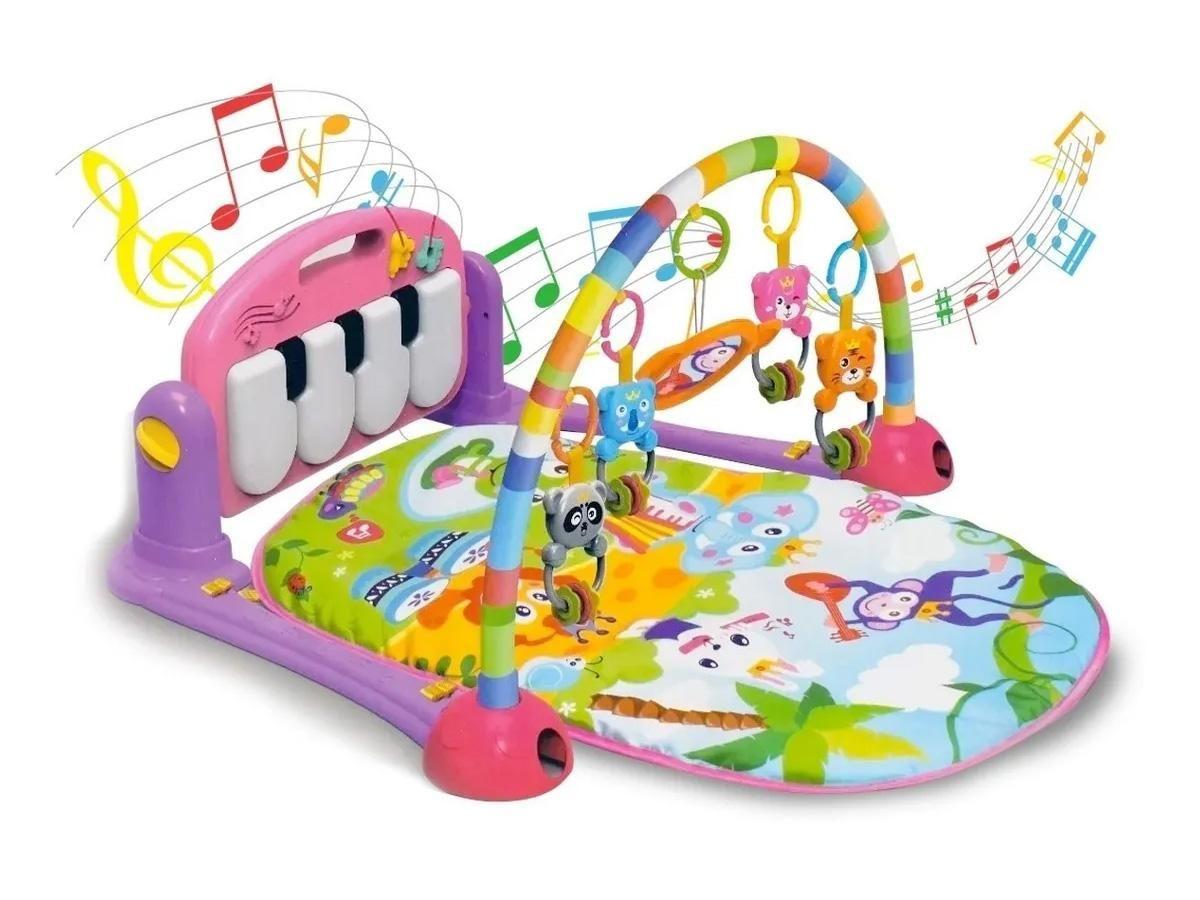 Ginásio Divertido Multifunção do Bebê Piano Rosa Kitstar 612