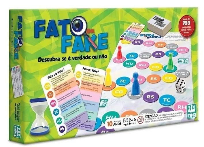 Jogo De Tabuleiro Fato Ou Fake Original - Nig 1147