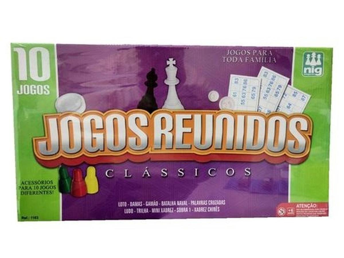 Jogos Reunidos Clássicos Nig Brinquedos 1163