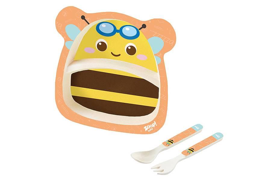 Kit Alimentação Papinha Baby Eco 3 Peças G Abelha Zoop Toys