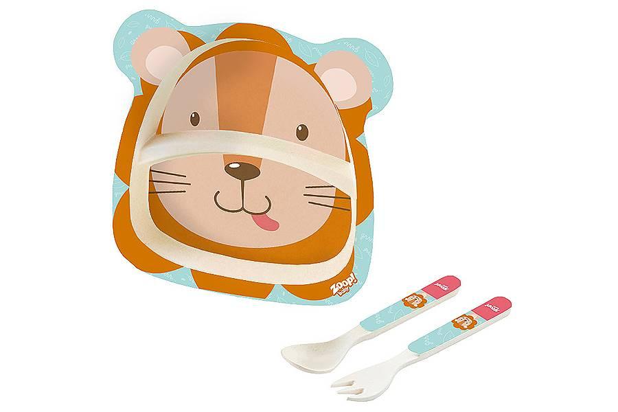 Kit Alimentação Papinha Baby Eco 3 Peças G Leão Zoop Toys