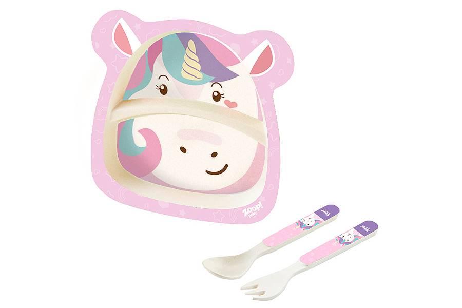 Kit Alimentação Papinha Baby Eco 3 Peças G Unicórnio Zoop Toys