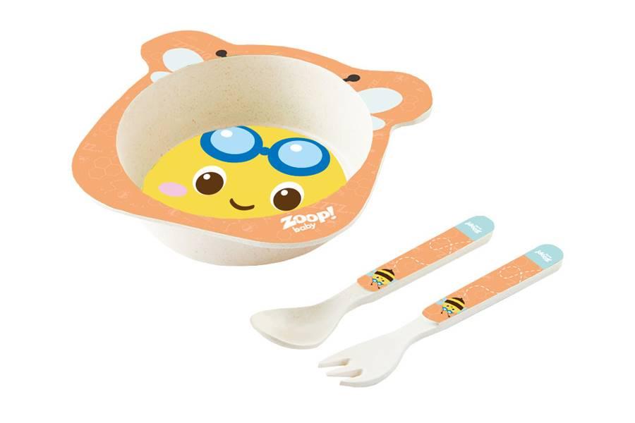 Kit Alimentação Papinha Baby Eco 3 Peças P Abelha Zoop Toys