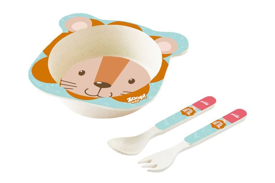 Kit Alimentação Papinha Baby Eco 3 Peças P Leão Zoop Toys