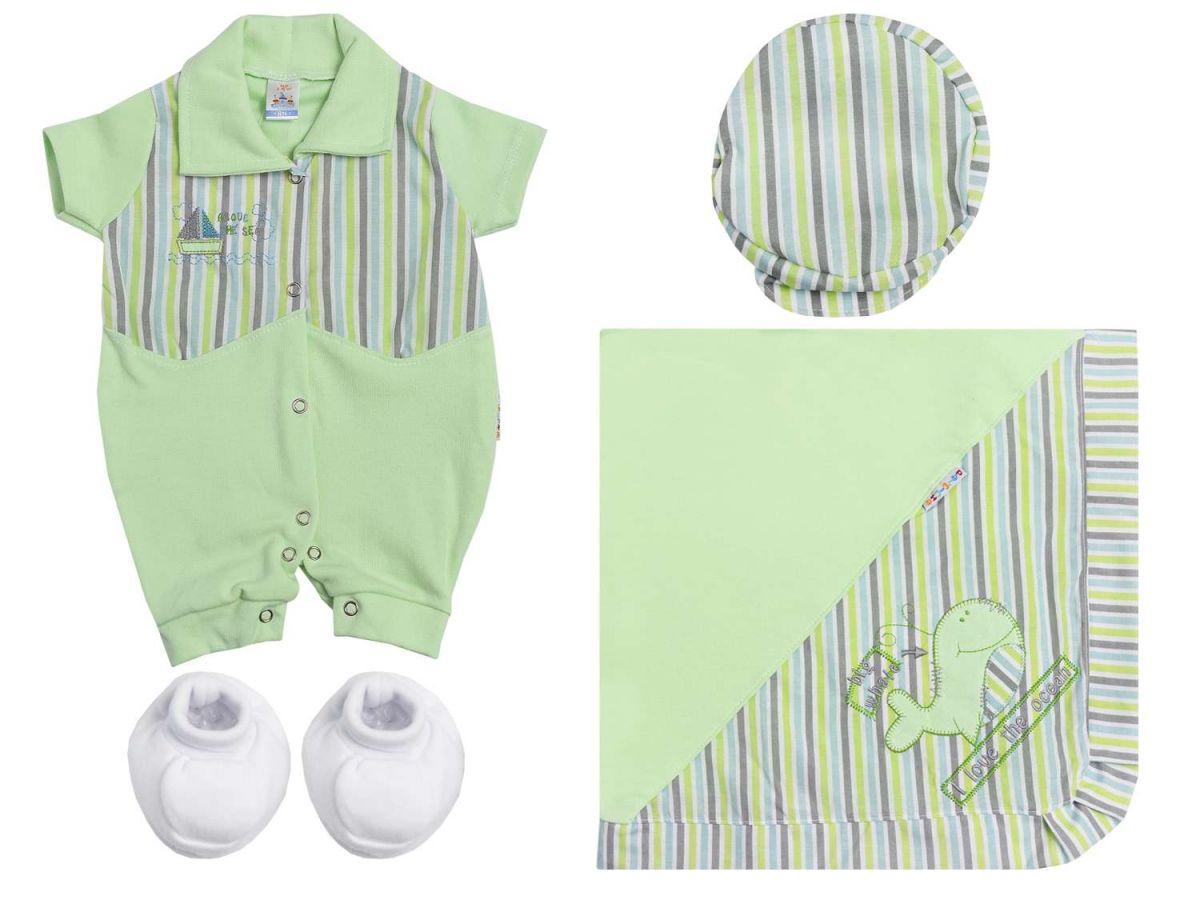 Kit Maternidade 4 peças Verde Palminha Baby