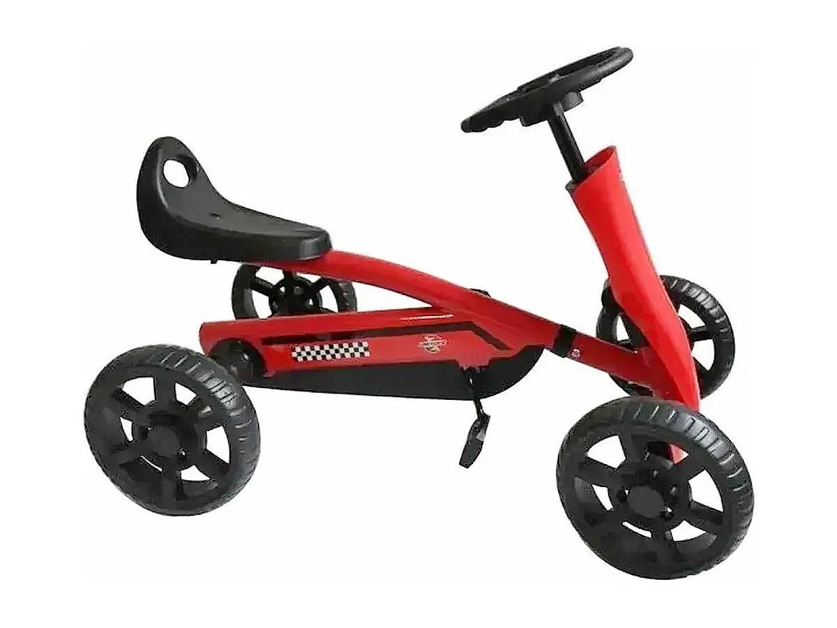 Mini Kart Infantil Space Vermelho Até 40kg Banco Ajustável com Pedal Unitoys