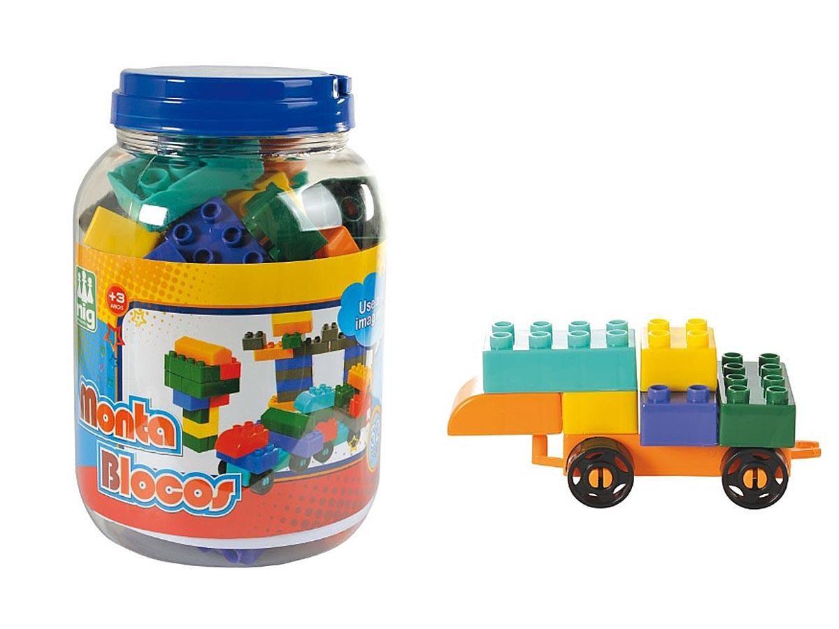 Monta Blocos 52 Peças Nig Brinquedos 0410