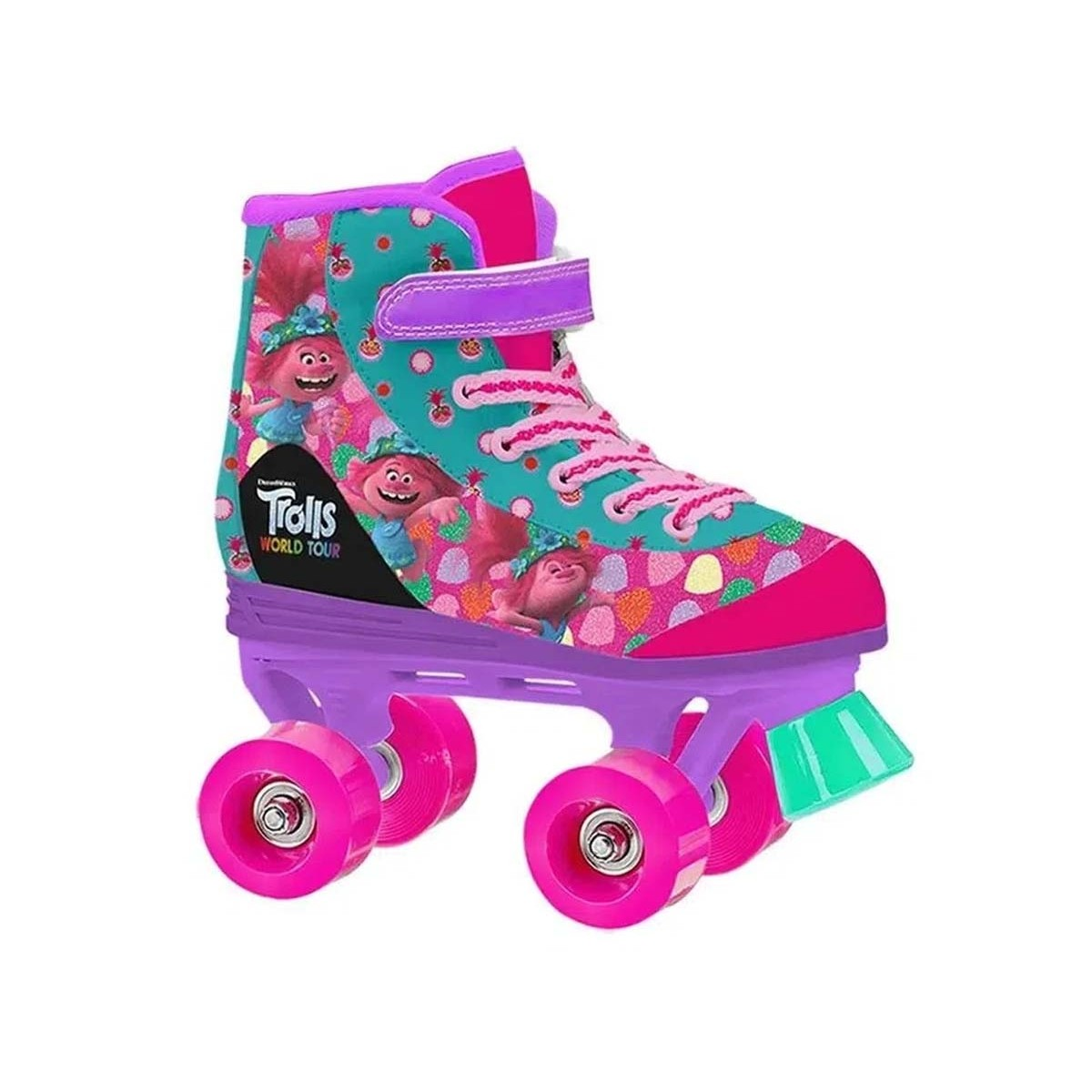 Patins Quad Candy Trolls World Tour Froes 182