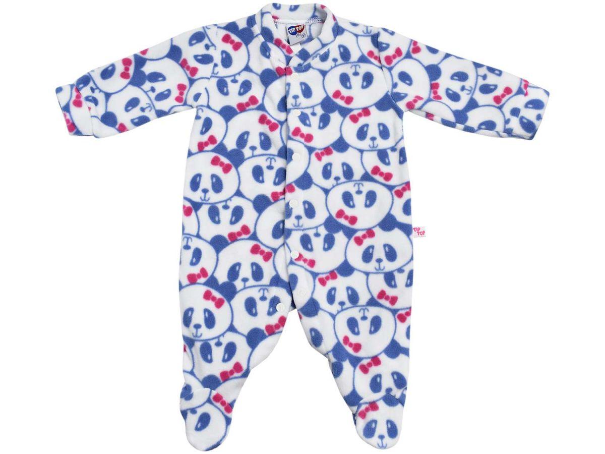 Pijama Macacão Panda Tip Top Azul