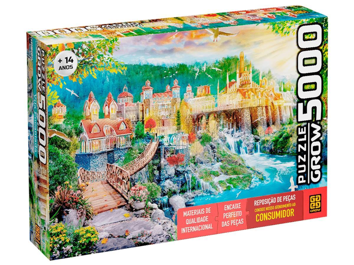 Quebra Cabeça Puzzle Vila Encantada 5000 peças Grow