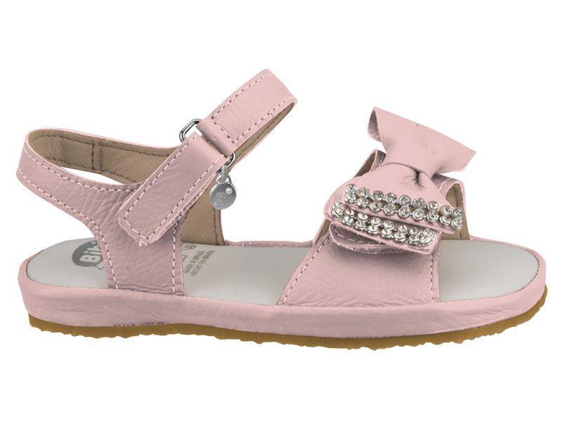 Sandalia de Couro Baby Rosa Bibi