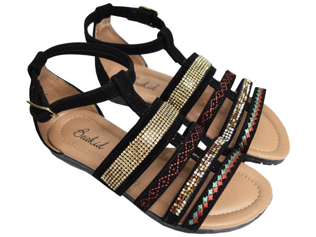 Sandália Strass Coloridos Beakid