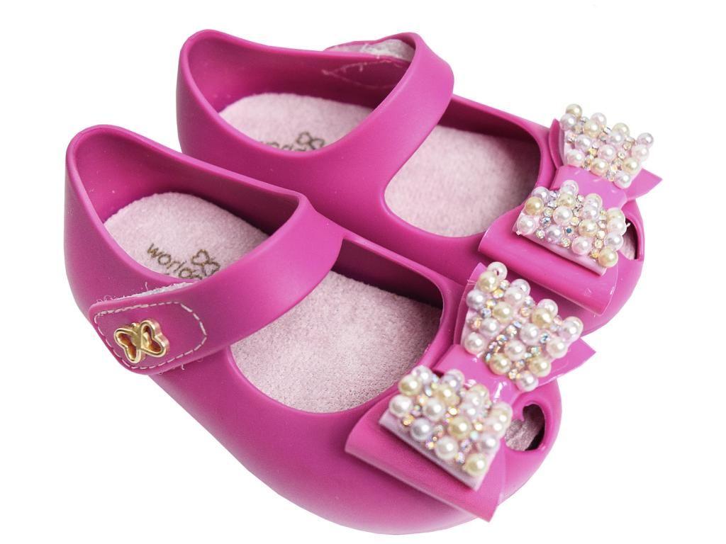 Sapatilha com Laço Pink World Colors