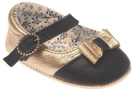 Sapato Boneca Dourado e Marinho - Pimpolho