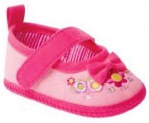 Sapato Boneca Rosa Com Flor Pimpolho - Tamanho 13 ao 16