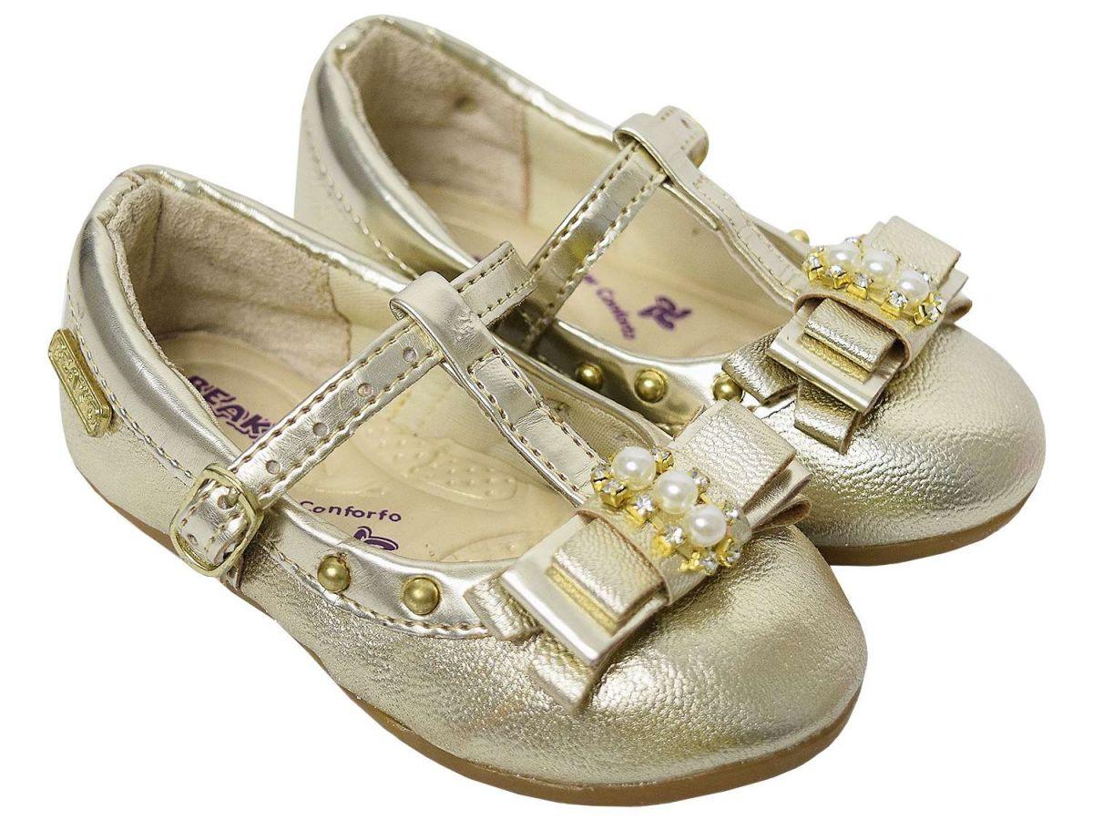 Sapato Dourado Boneca Beakid