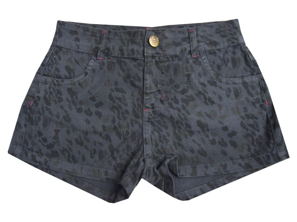Shorts Sarja Estampa Oncinha Gloss