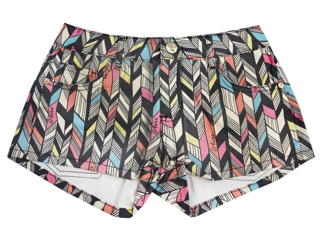 Shorts Sarja Estampado Gloss