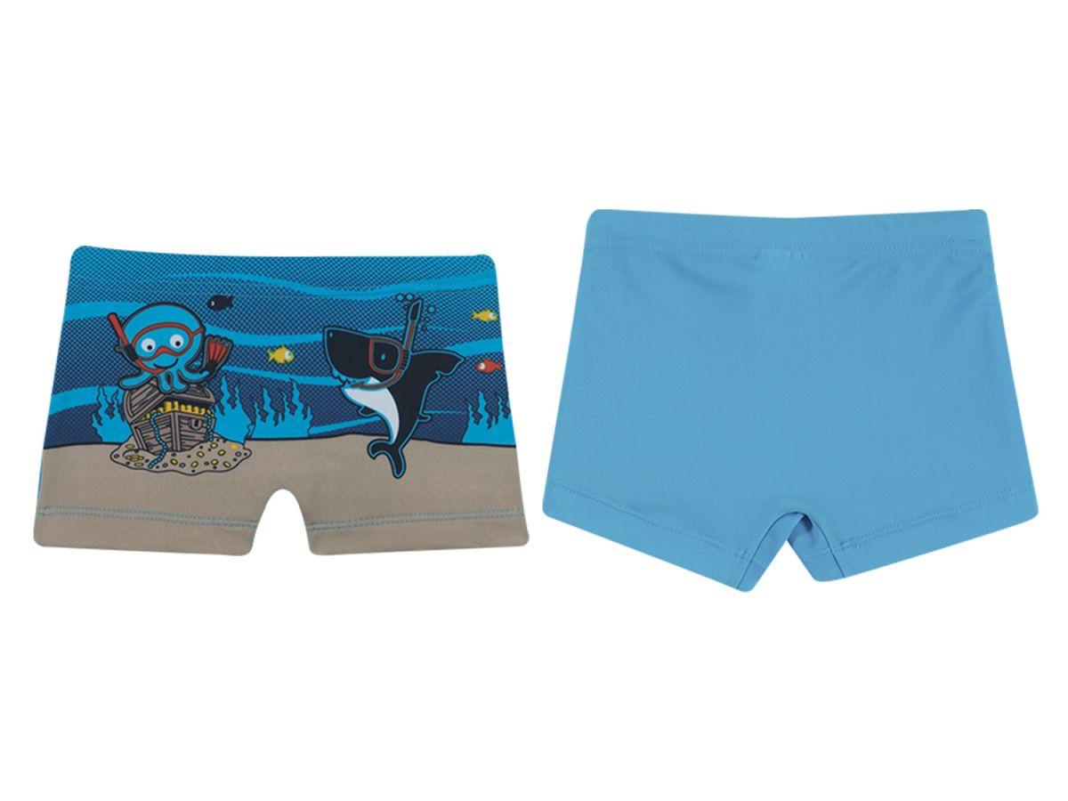 Sunga Boxer Polvo e Tubarão Azul