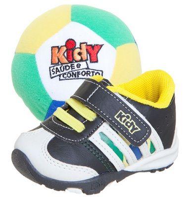 Tênis Com Bola Preto Kidy - 16 Ao 22