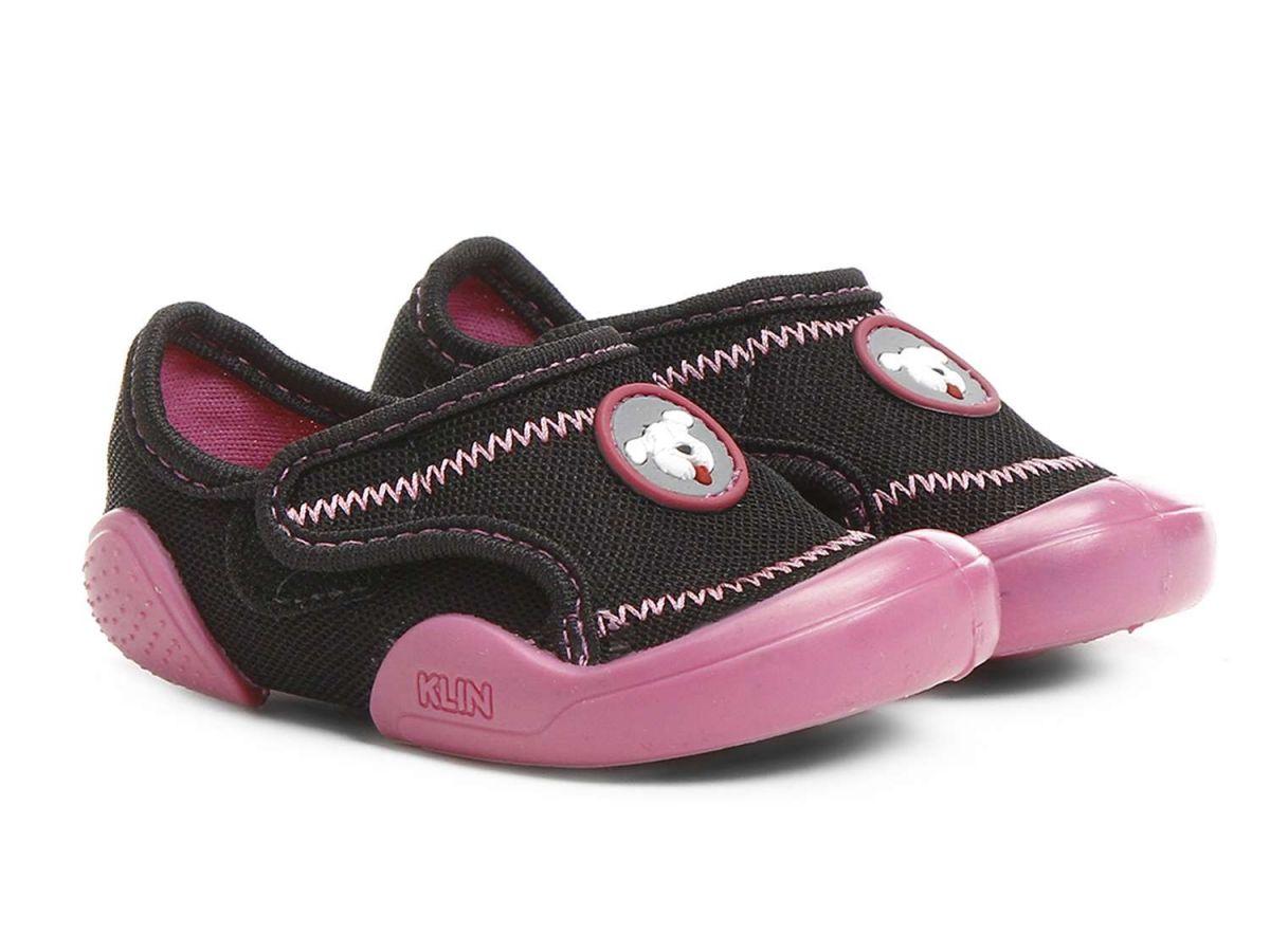 Tênis Klin New Confort Preto com Velcro