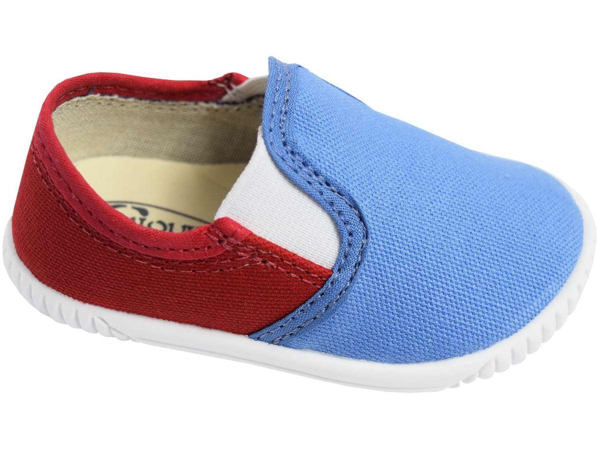 Tênis Sapeca Chique Top Yacht Azul e Vermelho