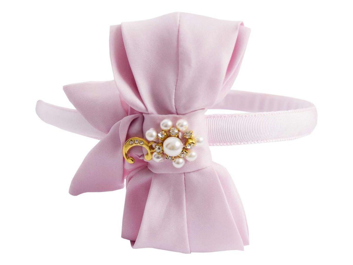 Tiara Infantil Rosa Carinhoso