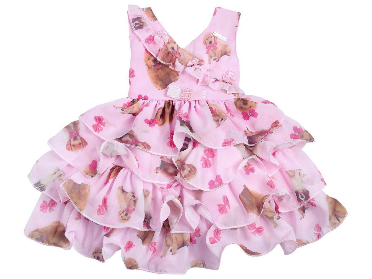 Vestido Babados Mini Miss