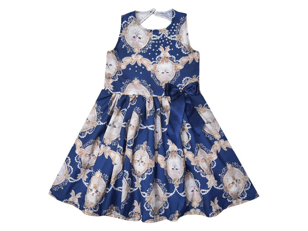 Vestido Estampa Gatinhos Le Petit 30880