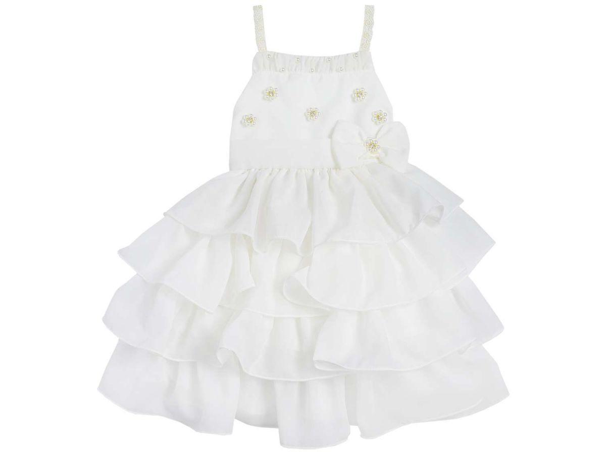 Vestido Festa Creme Mini Miss