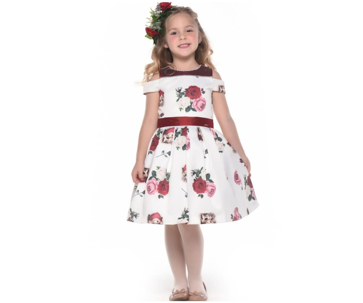 Vestido Rosas Kukixo K2903