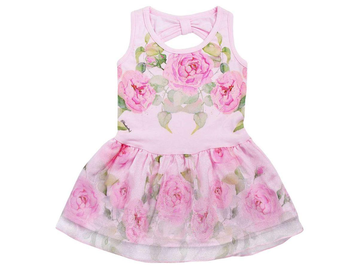 Vestido Rosas Pituchinhus