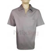 Camisa Brim Manga Curta Gola Italiana