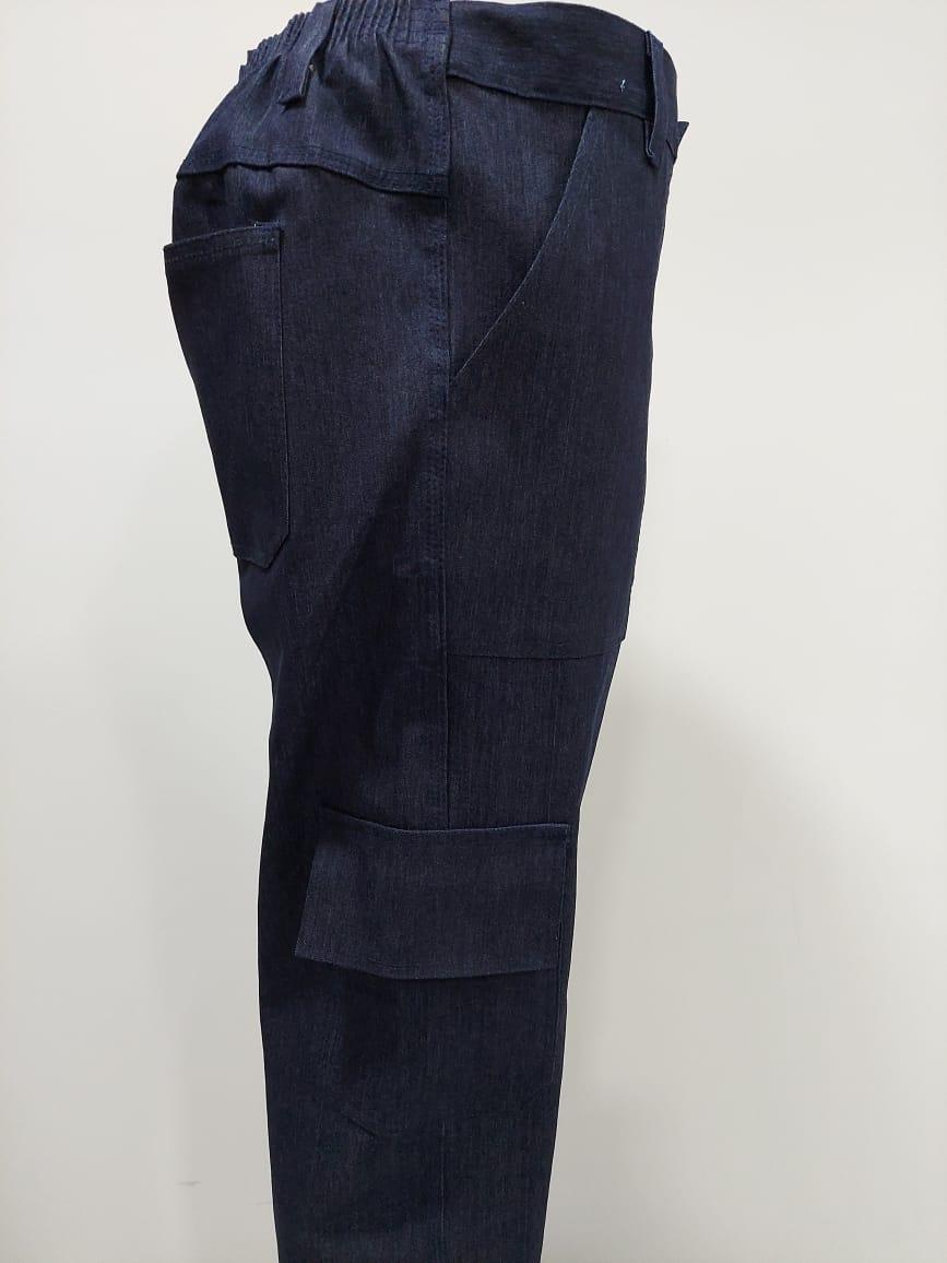 Calça Jeans Masculina Cargo