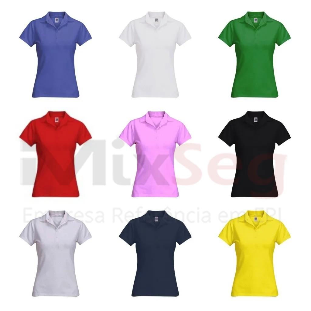 Camisa Polo Piquet Feminina