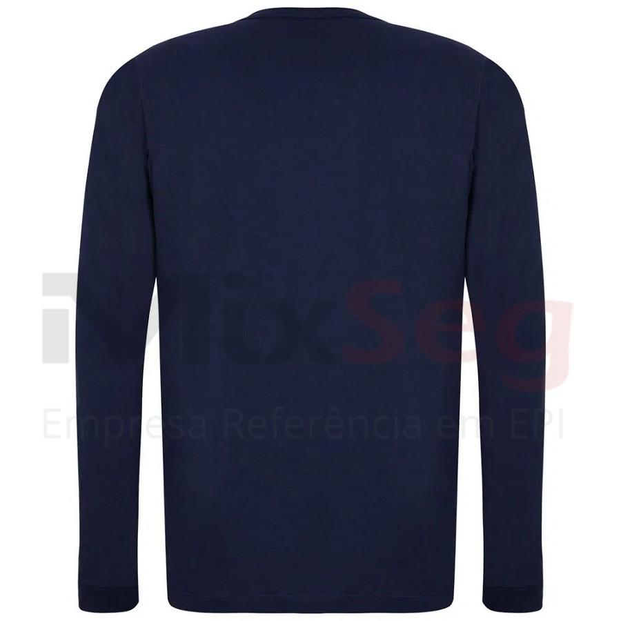 Camiseta Gola Careca Manga Longa